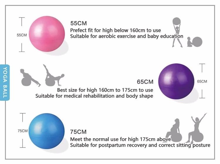 PVC gym Equipment exercise Fitness yoga ball1